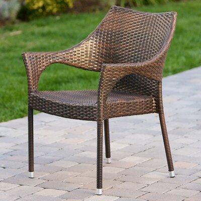 Home Loft Concepts Norm Outdoor Wicker Arm Chair Reviews Wayfair