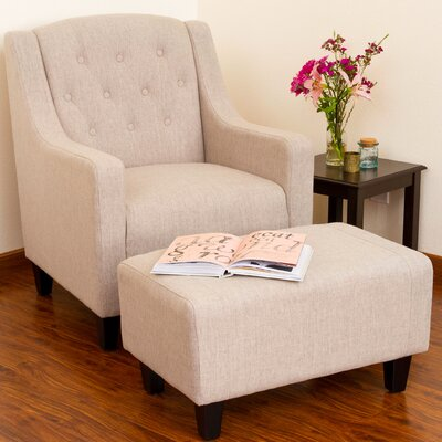 Darby Home Co Ariadne Club Chair and Ottoman