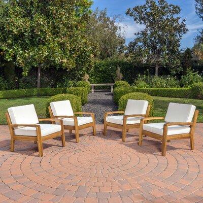 Home Loft Concepts Gorlomi Wooden Arm Chair (Set of 4)