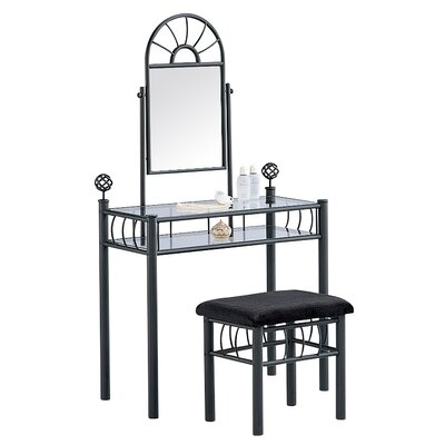 Hazelwood Home Vanity Set with Mirror (Set of 3)