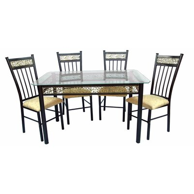 Hazelwood Home Dinette 5 Piece Set