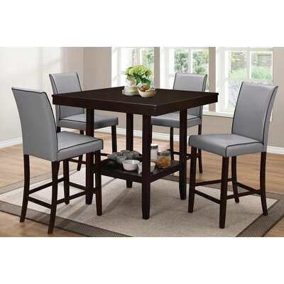 Hazelwood Home 5 Piece Counter Height Dining Set