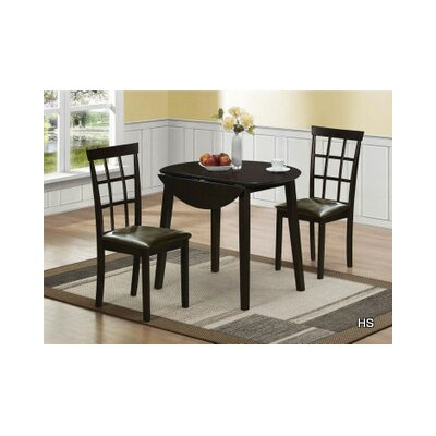 Hazelwood Home 3 Piece Dining Set