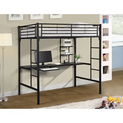 Hazelwood Home Twin Loft Bed with Workstation