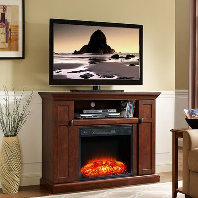 Hazelwood Home TV Stand with Electric Fireplace