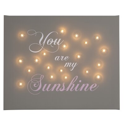 Illuminated Canvas You Are My Sunshine Typography on Canvas