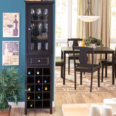 Andover Mills Burley 15 Bottle Floor Wine Cabinet