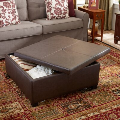 Andover Mills Elwood Square Storage Ottoman