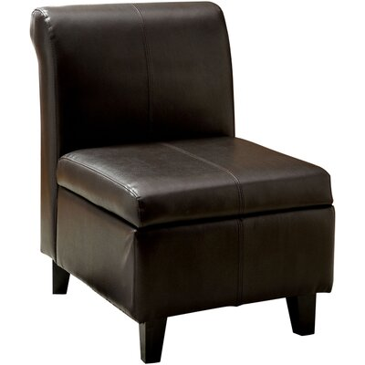 Andover Mills Vivian Faux Leather Slipper Chair