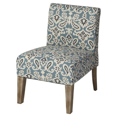 Andover Mills Spencer Slipper Chair in Blue