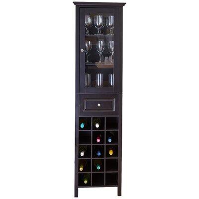 Andover Mills Burley 15 Bottle Floor Wine Cabinet