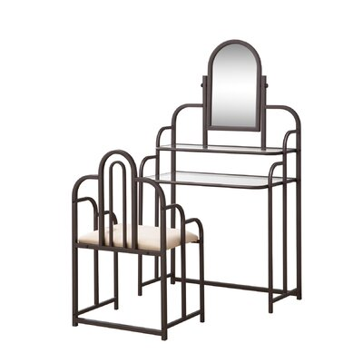 Andover Mills Binney Vanity Set with Mirror