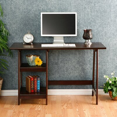 Andover Mills Bristol Writing Desk with 2 Shelves