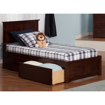 Andover Mills Marjorie Extra Long Twin Panel Bed with Storage