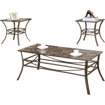 Andover Mills 3 Piece Table Set