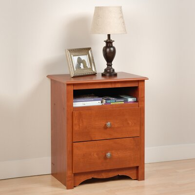 Andover Mills Sybil 2 Drawer Nightstand