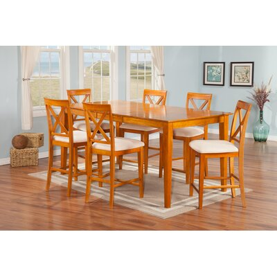 Andover Mills Crestwood 7 Piece Pub Table Set