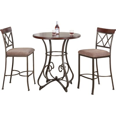 Andover Mills Sawyer 3 Piece Pub Table Set