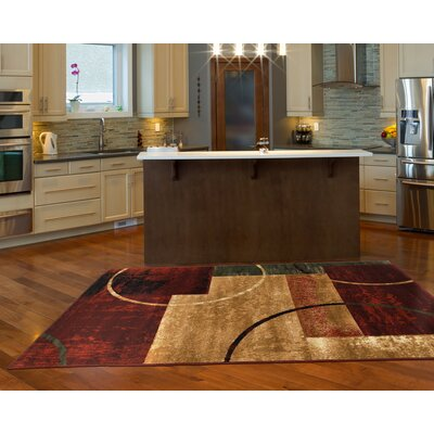 Andover Mills Eileen Cotton Red/Gold Area Rug U0026 Reviews | Wayfair