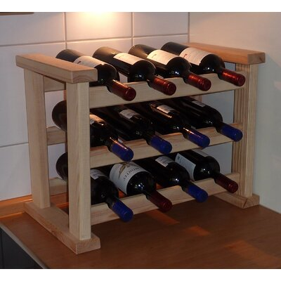 Dcor Design 12 Bottle Free Standing Wine Rack Wayfair Uk
