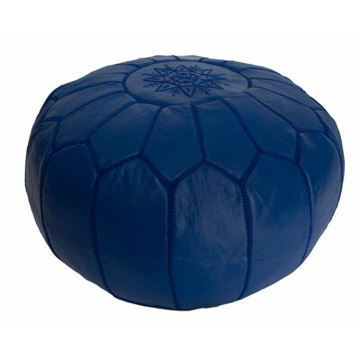 Casablanca Market Leather Embroidered Ottoman