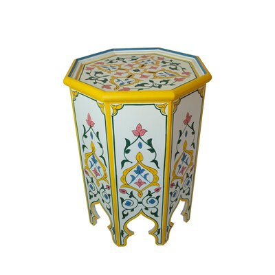 Casablanca Market Meknes Hand-painted Side Table