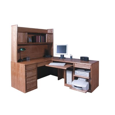 Forest Designs L-Shape Executive Desk wit..