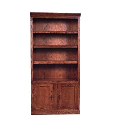 Forest Designs Mission Bookcase with Lower Doors 72