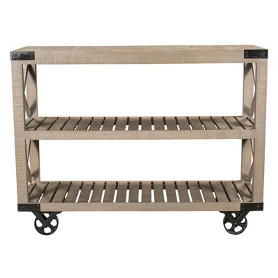 STYLE N LIVING Wheel Console Table
