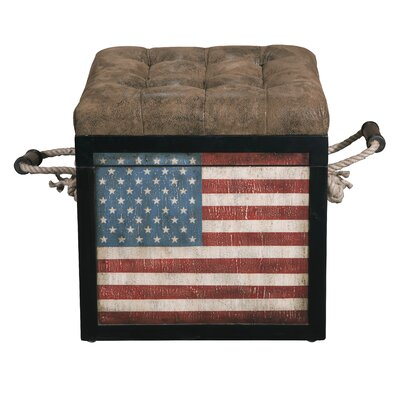 Highway To Home Old Glory Storage Ottoman