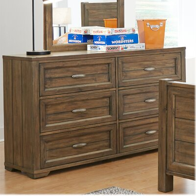 My Home Furnishings Logan 6 Drawer Dresser