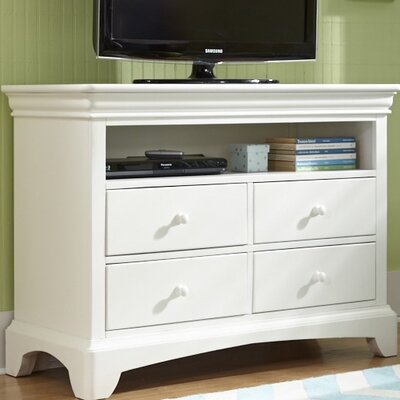 My Home Furnishings Neopolitan 4 Drawer Media Chest