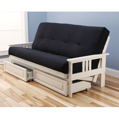 Kodiak Furniture Monterey Suede Storage Drawers Futon and Mattress