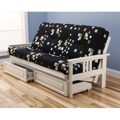 Kodiak Furniture Monterey Modern Blocks Storage Drawers Futon and Mattress
