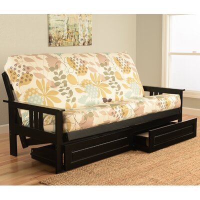 Kodiak Furniture Monterey English Garden Black Frame Futon With Mattress
