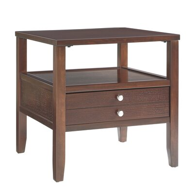 Three Posts Millville 2 Drawer End Table