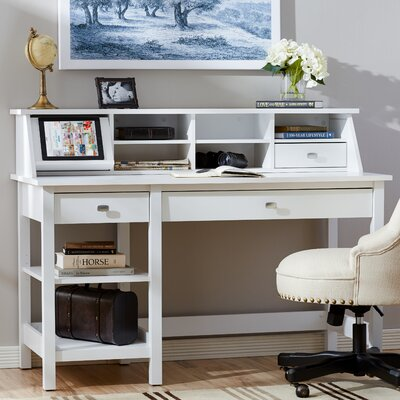 Three Posts Ackerson Open Storage Desk Set