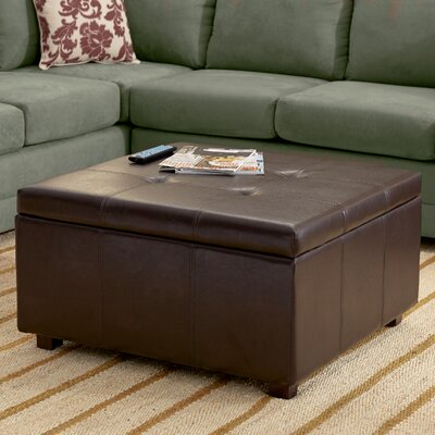 Three Posts Ehlert Faux Leather Storage Ottoman