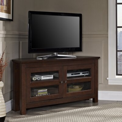 Three Posts Spartansburg Wood Corner TV Stand