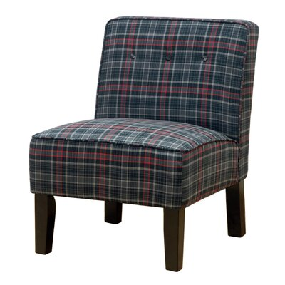 Three Posts Laurens Slipper Chair in Neo Plaid