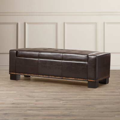 Three Posts Collins Leather Storage Ottoman