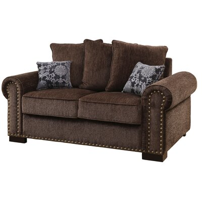 Three Posts Rosewood Chenille Loveseat