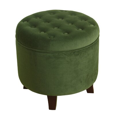 Three Posts Alamo Velvet Round Storage Ottoman