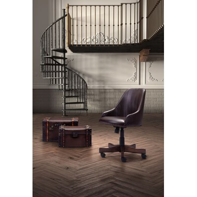 Three Posts Farmland High-Back Leather Office Chair