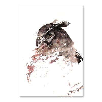 Americanflat Horned Owl by Suren Nersisyan Art Print