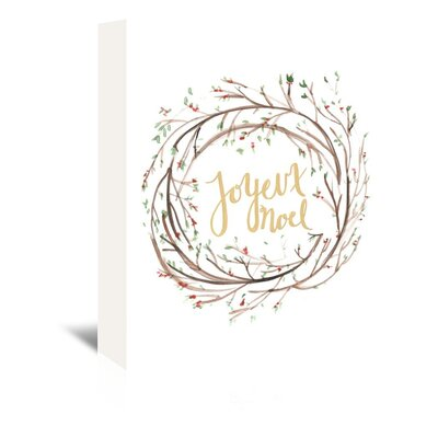 Americanflat 'Joyeux Noel' by Jetty Printables Graphic Art Wrapped on Canvas