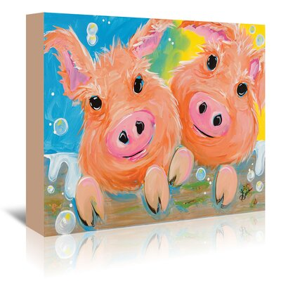 Americanflat Pig Duo' by Terri Einer Art Print Wrapped on Canvas