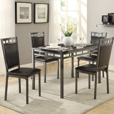 Andover Mills Cushing 5 Piece Dining Set
