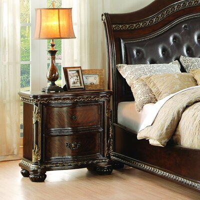 Homelegance Chaumont 2 Drawer Nightstand