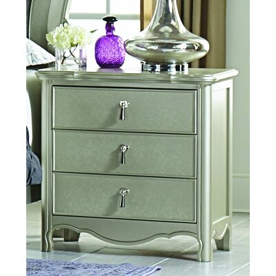Homelegance Toulouse 3 Drawer Nightstand
